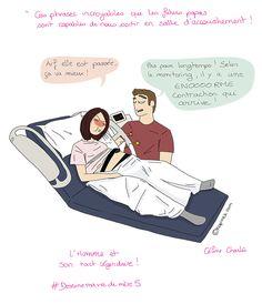 couple en salle d'accouchement