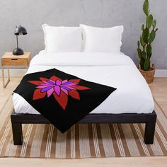 """Lotus Star Design"" Throw Blanket by Pultzar 