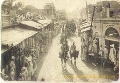 Royal Procession Passing through Street of Bahawalpur - 1940s