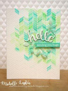 Handmade by Michelle: Leafy green hello