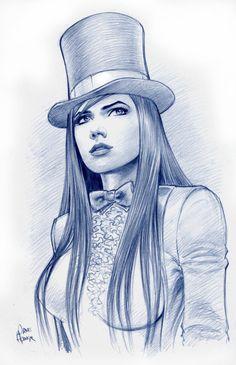 Zatanna Sketch by Tarzman (Deviantart)