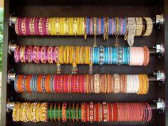 Bangle Bracelet Storage Ribbon Spool Holder From JoAnns Only - Bangle bracelet storage ideas