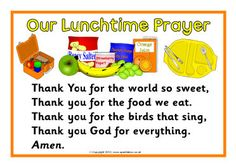 Our Lunchtime Prayer printable poster; also editable versions to add your own prayer (Grown Step Children) Preschool Bible, Bible Activities, Preschool Classroom, Preschool Learning, Preschool Activities, Church Activities, Preschool Lessons, Toddler Learning, Classroom Resources