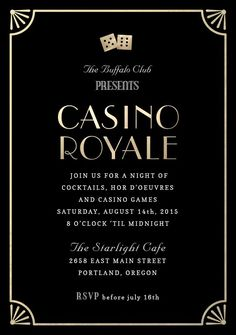 """Casino Royale"" Invitation by Kristy Kapturowski 