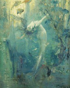 "Gaston Hoffmann (1883 - ?), ""Sirene"" by sofi01, via Flickr"