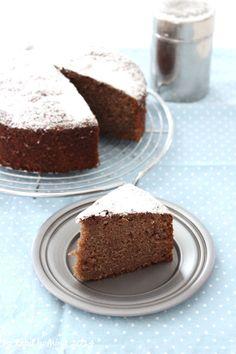 Schokolade-Bananen-Kuchen zum ersten Bloggeburtstag Chocolate-banana-cake