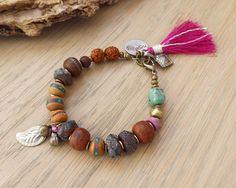 Nomad bracelet - yoga bracelet - ethnic jewelry - bohemian bracelet - tassel bracelet by OmSaha on Etsy https://www.etsy.com/listing/221503609/nomad-bracelet-yoga-bracelet-ethnic