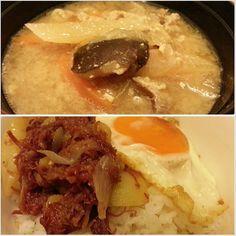 #tonjiru and #cornedbeef #don w/ #sunnysideup fir #lunch  #yummy #japanese #filipino #food #philippines #豚汁 と#コンビーフ丼 #目玉焼き 載せな#ランチ #フィリピン