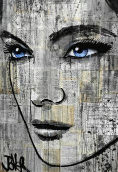 "Saatchi Online Artist Loui Jover; Drawing, ""danube"" #art"