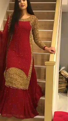 Pakistani Fancy Dresses, Party Wear Indian Dresses, Designer Party Wear Dresses, Pakistani Bridal Wear, Dress Indian Style, Indian Fashion Dresses, Pakistani Dress Design, Designer Wear, Indian Wear