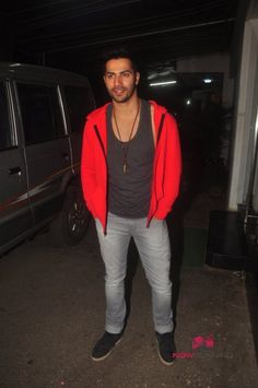 Varun At Badlapur Screening