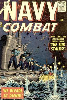 War Comics, Hair Raising, Silver Age, Comic Art, Marvel, Navy, Graphic Novels, Military, Illustrations