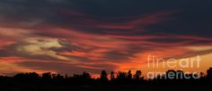 Sky On Fire. Summer sunset in the Ottawa Valley. The sky is ablaze with colour.  Fine Art Photography http://rob-huntley.artistwebsites.com © Rob Huntley