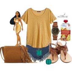 Disney Theme Park Summer Outfit: Pocahontas