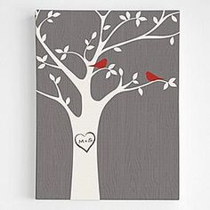 personalized tree initials wall art from RedEnvelope.com