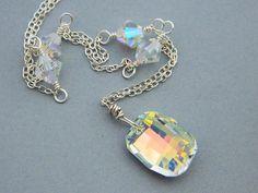 Wedding Necklace. Swarovski Crystals by ClassicBridalJewelry