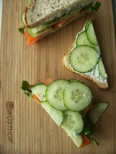 cucumber sandwiches. i could eat these ALL DAY.