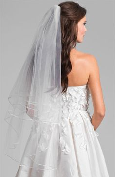 This is the perfect veil by Nina 'Adrienne' Double Tier Veil available at #Nordstrom #Nordstromweddings