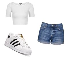 """""""Simple"""" by layyy-layyy on Polyvore featuring Topshop and adidas"""