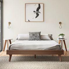26 Rustic Bedroom Design and Decor Ideas for a Cozy and Comfy Space - The Trending House Best Platform Beds, Platform Bed With Storage, Wood Platform Bed, Queen Platform Bed, Upholstered Platform Bed, Platform Bed Designs, Low Platform Bed Frame, Home Bedroom, Bedroom Decor