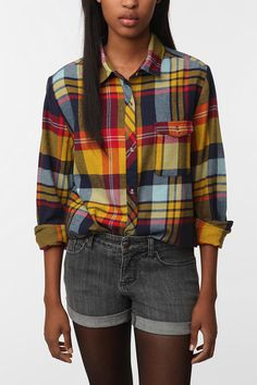 I love an old man plaid shirt for ladies.  Great for Fall weekends.