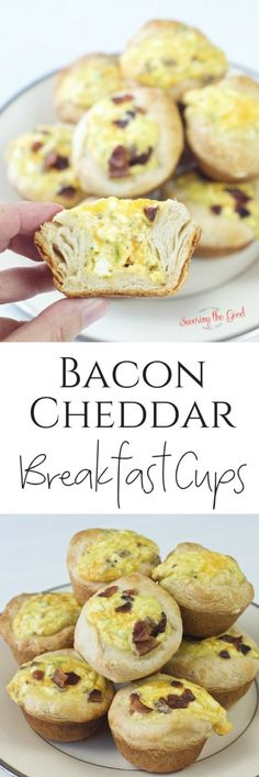 Bacon Cheddar Breakfast Egg Cups have all of my favorite breakfast flavors! Breakfast egg cups are a delicious breakfast item to keep in the fridge for grab and go meals. I make these breakfast egg cups the night before for my family because I don't like to wake up earlier than I have to in the morning! #breakfast #easybreakfast #eggcup #eggcups #baconandeggs