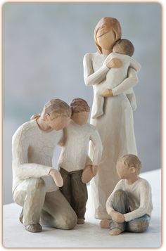 Willow Tree figure :Parents with 3 children