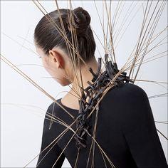 Holland Houdek, Artist, copper tubing, reeds, liver of sulfur  Dimensions: 4' x 4' x 4'