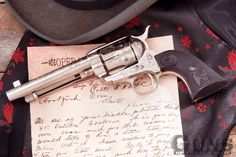 Bat Masterson's Engraved Colt Artillery Model Single Action Army Revolver