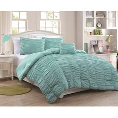 Mandy 4-piece Microfiber Mini Comforter Set - Overstock Shopping - The Best Prices on Teen Comforter Sets