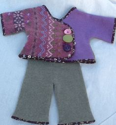 Recycled Wool Baby Sweater and Longie Set by TreasuredHeart, $40.00