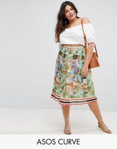 057045856ad Buy Asos curve Pleated skirt for woman at best price. Compare Skirts prices  from online stores like Asos - Wossel Global