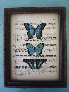 music and blue butterflies. 2 of my favorite things put together = WIN!!!
