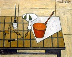 Bernard BUFFET ( 1928 - 1999 ) - Peintre Francais - French Painter La casserole rouge