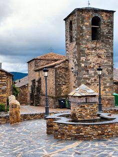 Valverde de los Arroyos .Ruta arquitectura negra  (Guadalajara) Castilla la Mancha  Spain