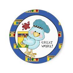 Great Work Kids School sticker