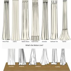Curtain length guide