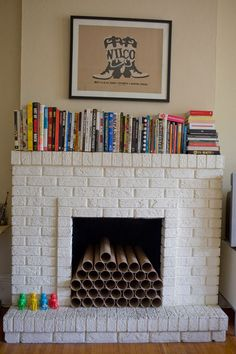 I can't put cardboard tubes in my gas fireplace but everything else is do-able