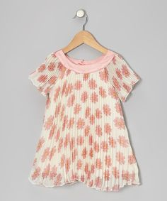 Take a look at this White Daisy Pleated Tunic - Toddler & Girls on zulily today!