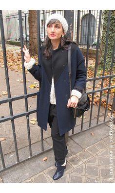 Elsa Esturgie pantalon sarouel noir Nino #elsaesturgie #pantalon #sarouel #black #noir #nino #coton #cotton #manteau #coat #matieresareflexion #sacs #bag #sac #bags #chaussures #patriciablanchet #shoes #bonnet #charlottesometime