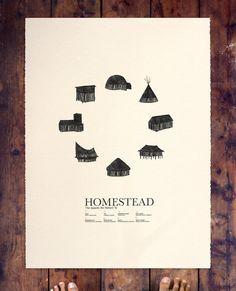 HOMESTEAD print for the walls via Etsy.