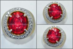 Sparkling Hot Pigeon Blood RUBY Cut. Crystal Bersih - RBC 132
