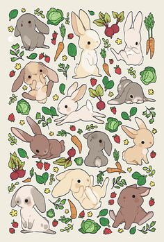 "danikruse: ""rabbit food! want this as a print? """