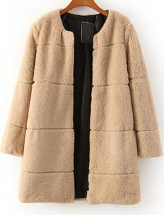 Shop Khaki Long Sleeve Faux Fur Coat online. Sheinside offers Khaki Long Sleeve Faux Fur Coat & more to fit your fashionable needs. Free Shipping Worldwide!