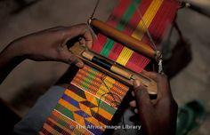 Kente weaving, Ho, Volta region, Ghana