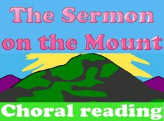 FREEBIE: New Testament choral reading - Sermon on the Mount Parables Of Jesus, Youth Group Activities, Jesus Teachings, Love Scriptures, Health And Physical Education, Reading Help, Life Of Christ, Beatitudes, Memory Verse