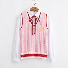 Sweet Knitted Vest – knitting vest – Knitting for Beginners Tumblr Fashion, Girl Fashion, Fashion Outfits, Fashion Design, Womens Fashion, Pretty Outfits, Pretty Dresses, Cute Outfits, Outfits For Teens