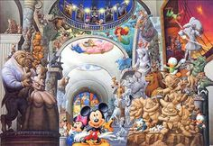 D-1000-304 Tenyo Disney Japan Jigsaw Puzzle Mickey Mouse Museum