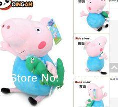 "2014 5 PCS  20cm Paige George peppa pig hug dinosaur plush toys pink pig peppa 8""pepa pig kurhn doll for baby kid toy wholesale $24.88"
