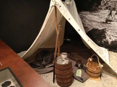 Yankee camp in Fort McAllister museum.